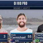 Wade Carmichael Through To Round 3 WSL Oi Rio Pro