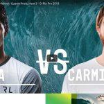 Wade Carmichael Defeats Gabriel Medina in Quarterfinals Oi Rio Pro